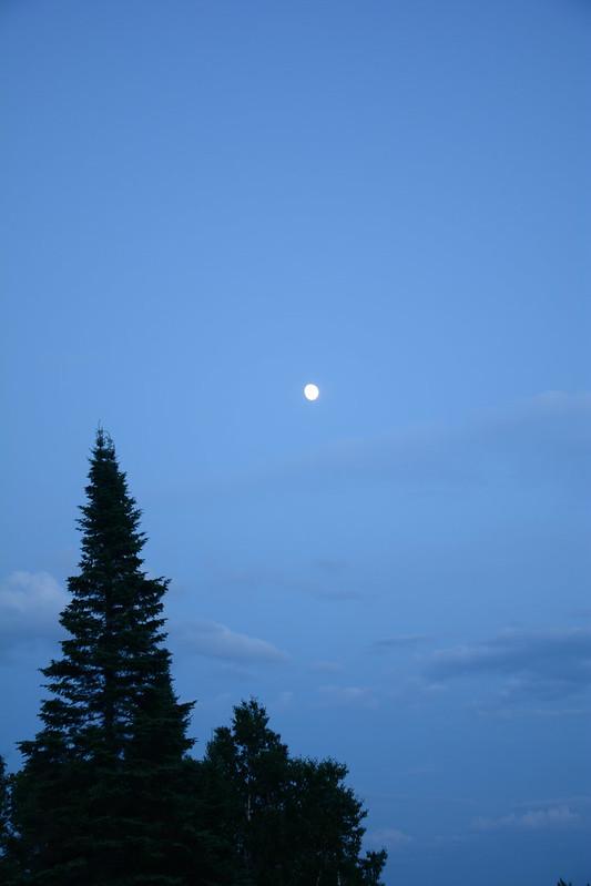 Moon over Minnesota