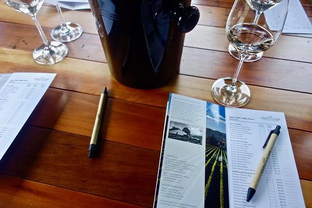 Degustando il vino di Marlborough