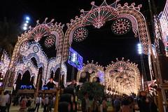 iluminacion y calles del recinto Parque González Hontoria Feria del Caballo 2014 Jerez de la Frontera Cadiz 08