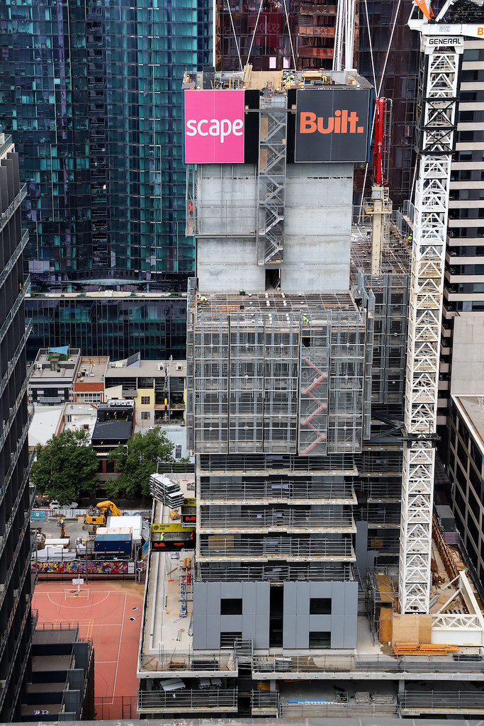 SCAPE UNDER CONSTRUCTION, FRANKLIN STREET, MELBOURNE :copyright: