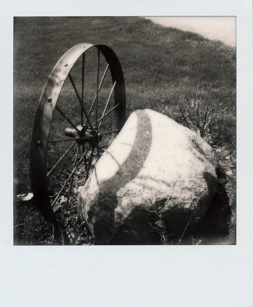 Wheel and rock