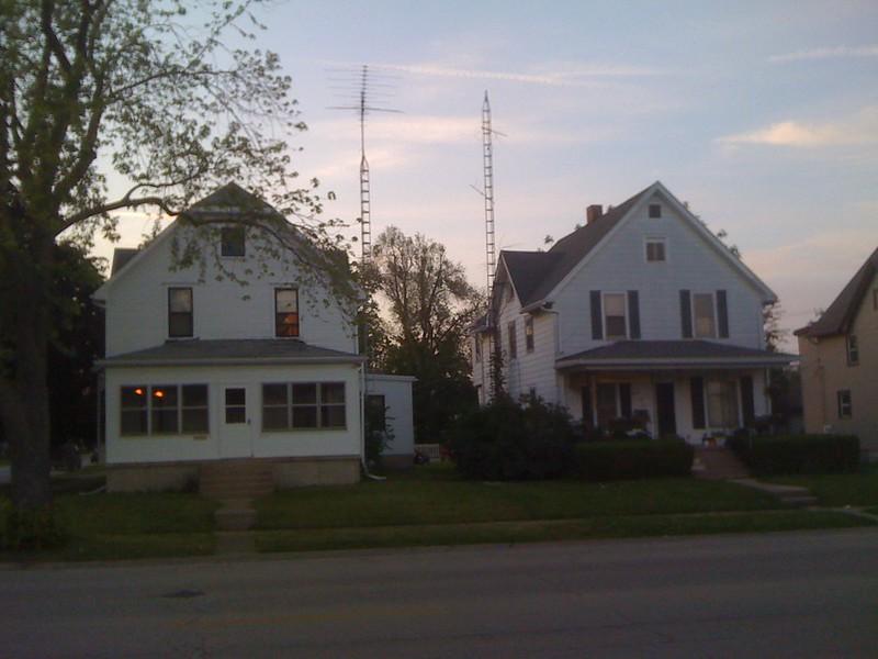 TV antennas, Kankakee, Illinois, 2010