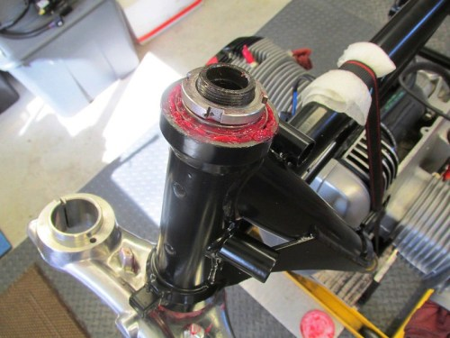 Steering Stem Nut Installed