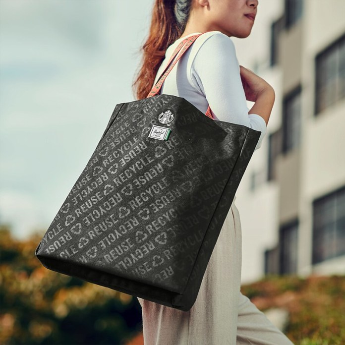 STARBUCKS® X Herschel Supply Co. Long Tote Bag (2)