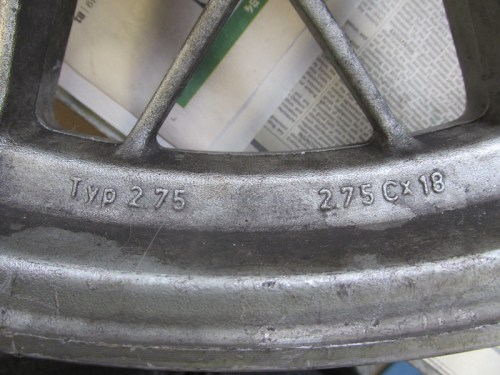 Rear Wheel Left Side Markings
