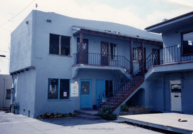 San Diego Gay Center, 5th Avenue behind Brass Rail 1992