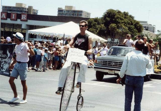 P085.010m.r- Albert Bell, 1991 San Diego Gay Pride Parade