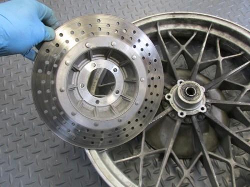 Rear Disk Brake Rotor Removed