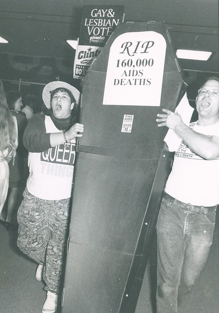 Wendy Sue Biegeleisen at Act-Up protest, 1992