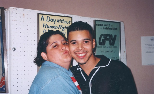 Mandy Schultz(left) and Wilson Cruz(co Grand Marshal of San diego LGBT Pride) ,1996