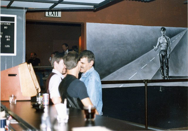 Interior of Loading Zone Men's Leather Bar, c.1986