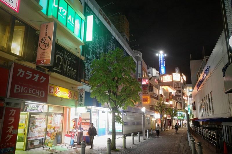 Fujimi night street, Chiba