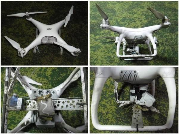 Drone abattu par la milice populaire de la RPD le 19 avril 2020