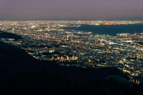 View from Kikuseidai (掬星台), Kobe, Japan
