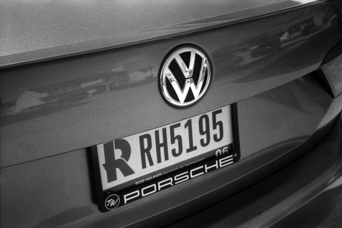 VW and license plate