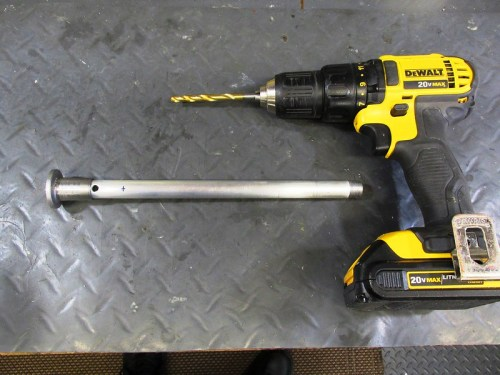 Ready To Drill Holes In Damper Rod with Variable Speed Drill