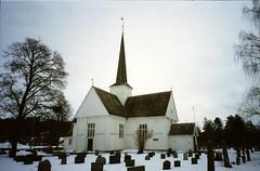 Eidskog Church and Cemetery in Norway