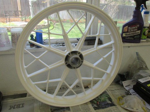 AFTER: Front Wheel White Powder Coat