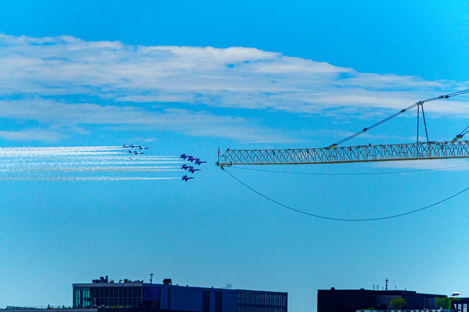 Photos: US Navy Blue Angels Flyover, Washington, DC USA