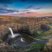 Palouse Falls at sunset, Eastern Washington, Washington State