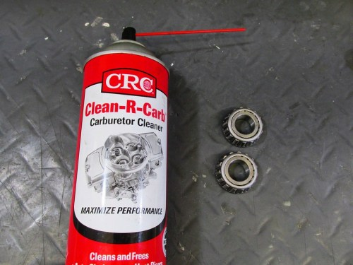 Clean Inner Bearings with Carburetor Cleaner