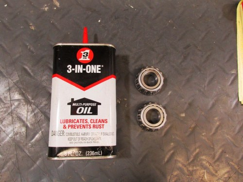 Use Light Oil to Lubricate Inner Bearings