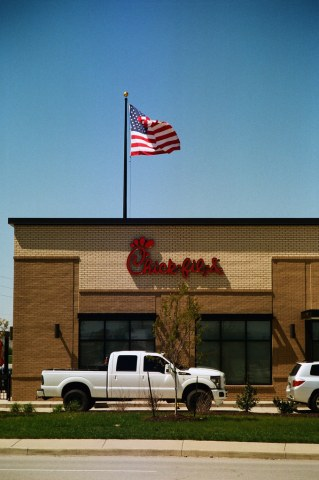 Flag over Chick-fil-A