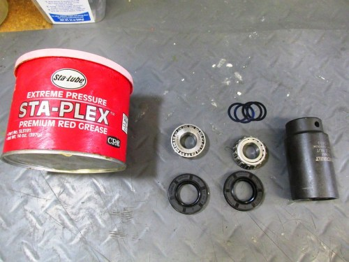 Ready To Install Front Wheel Bearings, Wedding Band, Shims and Grease Seals