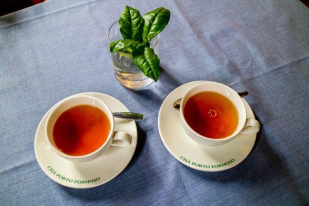Vasos de té de Porto Formoso en Sao Miguel