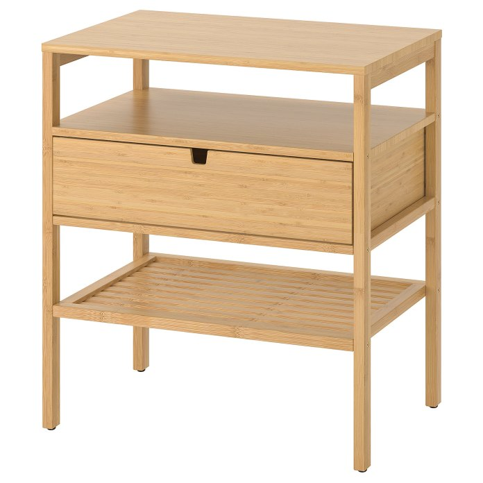 NORDKISA Bedside table, bamboo