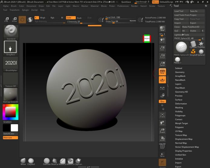 Working with Pixologic ZBrush 2020.1.1 full license