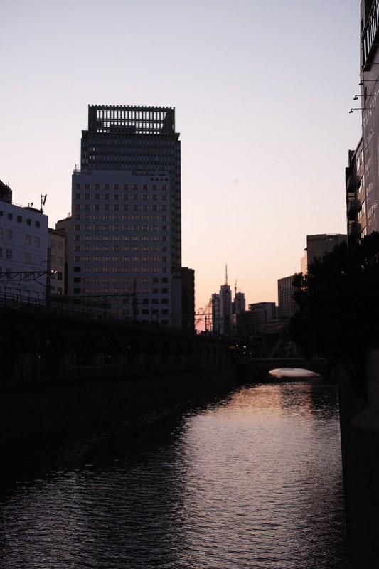 Kanda river sunset