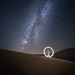 Light-painting in the sand dunes