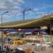 La canopée des Halles en construction. Paris