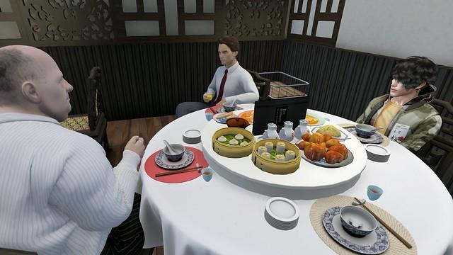 A meeting between men and a subordinate?