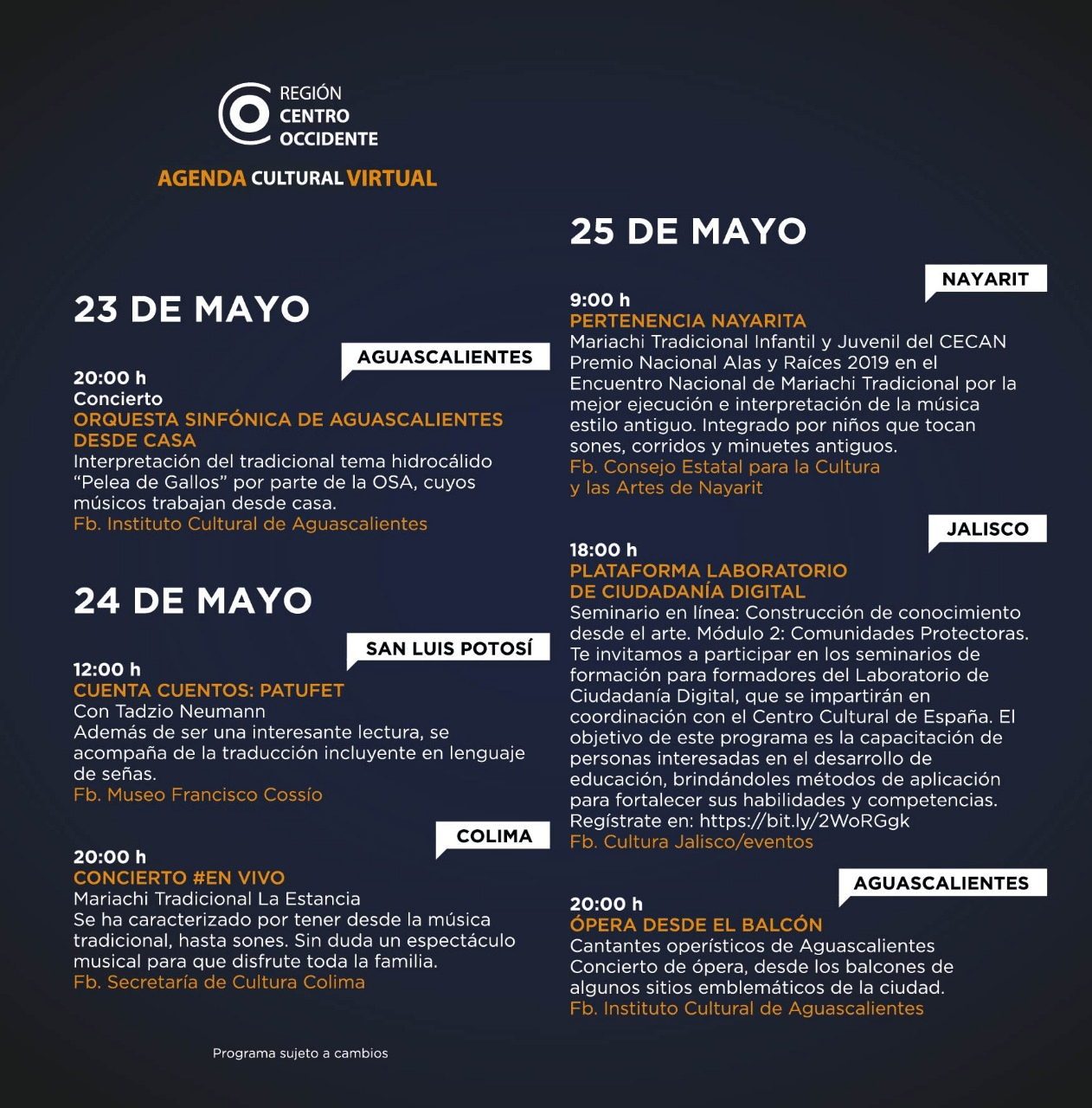 Agenda Centro Occidente 5