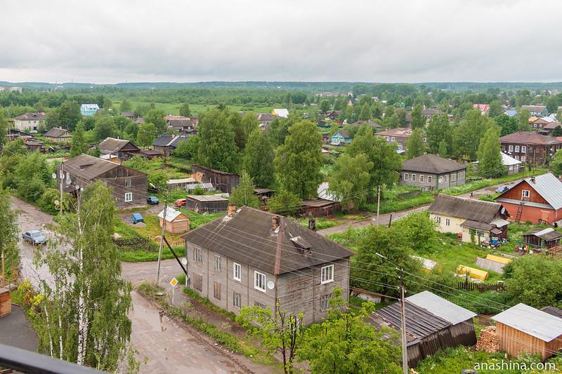 Панорама Вытегры со смотровой площадки отеля Wardenclyffe Volgo-Balt