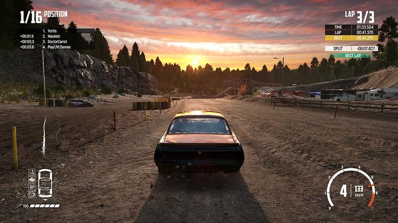 Wreckfest - захід сонця