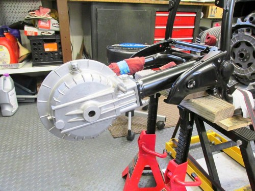 Rear Drive Installed on Swing Arm