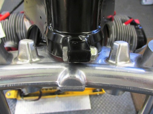 Installed Steering Stop Bolt in The Front Of The Steering Head