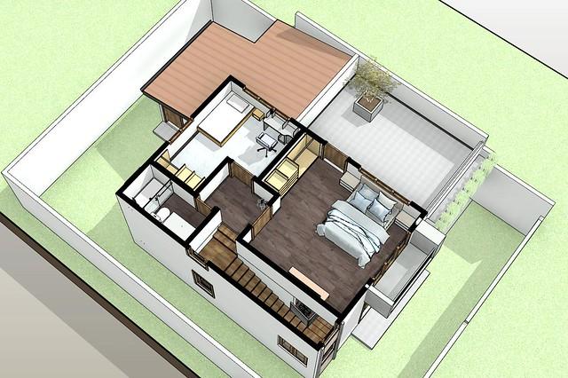 s2 - 3D View - 3D First Floor