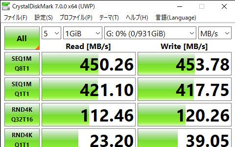 CrystalDiskMark 7.0.0 x64 (UWP) 2020_06_02 19_00_22
