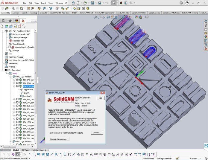 Working with SolidCAM 2020 S2 Multilang for SolidWorks 2012-2020 x64 full
