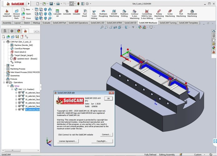 Working with SolidCAMCAD 2020 SP2 full license