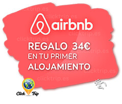 Regalamos 34€ en tu primer alojamiento · AHORRA Reservando Ahora ·