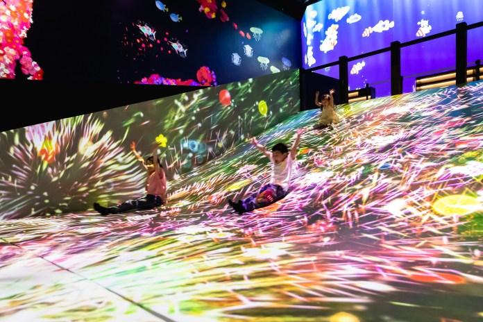 澳門 teamLab-04_Sliding through the Fruit Field