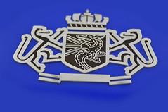 emblemat z mosiądzu chromowanego