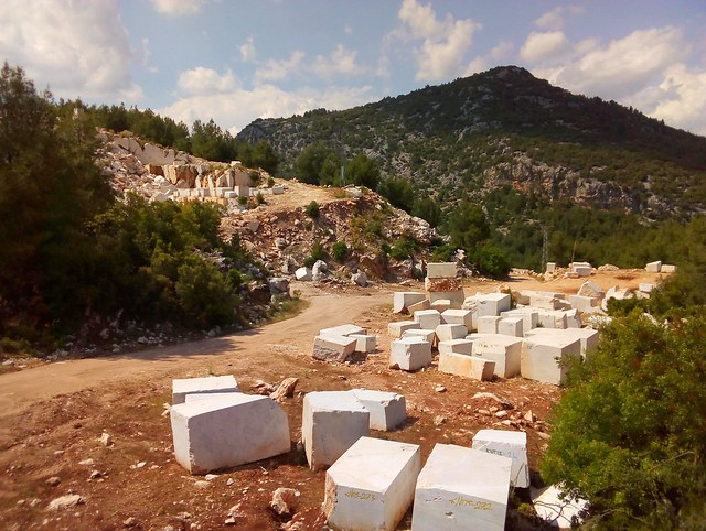 Immediately over the border into Burdur, I came across my first marble quarry by bryandkeith on flickr