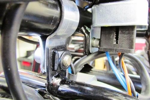 Middle Fairing Bracket Right Side Hardware Detail