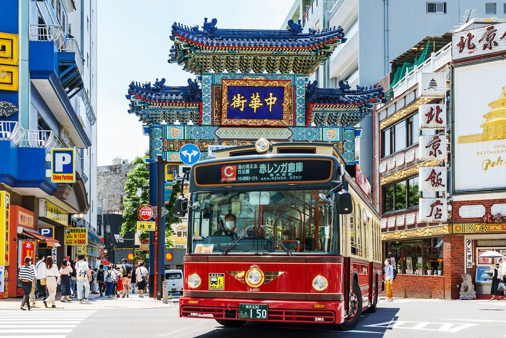 Choyou-Mon Gate in Yokohama Chinatown : 横浜中華街 朝陽門